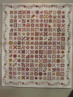 Red Quilt Filled With Love by Kimura.  2012 Tokyo International Great Quilt Festival.