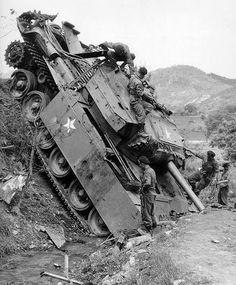 A Centurion Tank during the Korean War
