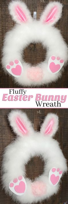 This DIY Fluffy Easter Bunny wreath craft project is so adorable and simple! Our tutorial is so easy that you can make this Easter Wreath in 30 minutes or less. And it's so fun that kids and adults alike can have fun while still looking amazing for your f