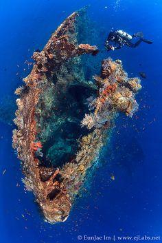 Tulamben wreck near Bali Indonesia