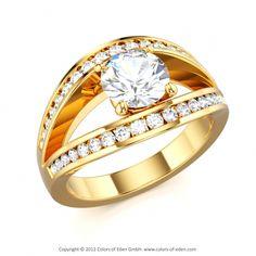 Diamond Engagement Ring #diamond
