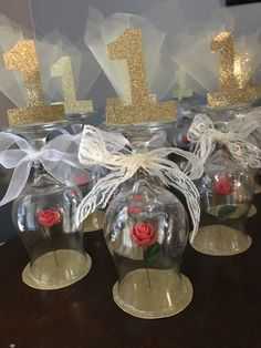 Beauty and the Beast Decorations DIY #beautyandthebeast #firstbirthday #party #rose #decorations #one