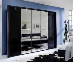 Best Kleiderschrank Loft Gleitt ren Schwarz Glas Schwarz Spiegel Kleiderschrank aus dem VIP M belprogramm Loft vom Hersteller Wiemann