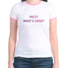 Miley-Whats-Good-T-Shirt-VMA-Nikki-Minaj-Miley-Cyrus-Cotton-Pink-Friday