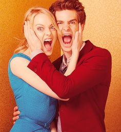 Emma Stone and Andrew Garfield.... they are so cute!