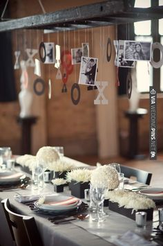 ladder for decor suspension | Valentines Day table setting