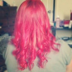 Pinky red hair