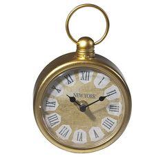 Gold Round Clock.
