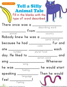 Worksheets: Fill-in a Funny Story #5