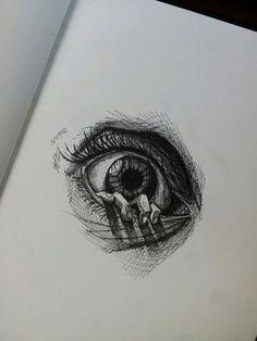 Quick eye sketch by MagnaSicParvis.deviantart.com on @DeviantArt