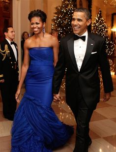 The First Lady and President Obama -- Dress by Vera Wang