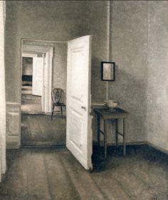 uconstruction:  Vilhelm Hammershøi (1864-1916 Danish) • The Four Bedrooms