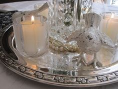 On Crooked Creek: Streamlined Vintage Tablescape. . .
