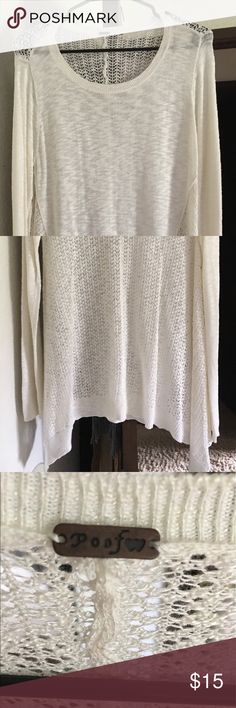 Never Worn. Thin. Light weight. Knit sweater top Never worn knit top.  **From a smoke free home** Poof! Sweaters Crew & Scoop Necks