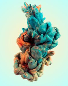 A new set of work by Bristol-based illustrator and photographer Alberto Seveso features gorgeous swirls of ink mixed with metallic powder.