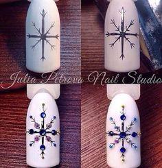 Christmas nails! ❄️fiocco di neve ❄️