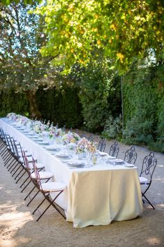 garden tablescape with a french flair