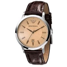 Brown leather Armani Watch