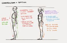Character design notes | Illustrator: Mingjue Helen Chen #construction #rhythm