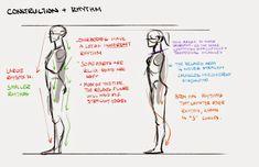 Character design notes   Illustrator: Mingjue Helen Chen #construction #rhythm