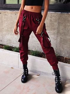 my style High Waist Cargo Pants with Belts Hipster Outfits, Edgy Outfits, Grunge Outfits, Grunge Fashion, Cool Outfits, Indian Outfits, Fashion Pants, Fashion Outfits, Womens Fashion