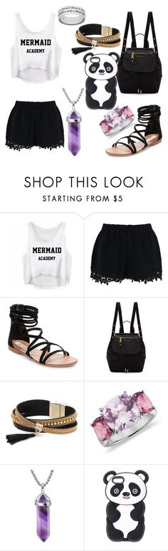 """""""Entering Mermaid Academy"""" by qwertyuiop-sparta ❤ liked on Polyvore featuring Chicwish, Steve Madden, Marc Jacobs, Simons and Blue Nile"""