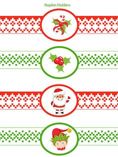 Christmas Napkin Rings Printable