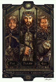 Cool Art: 'Line of Durin' by Adriana Melo —- Tolkien definitely took inspiration from Old Norse tunes for the dwarves writing, I love it all so freaking much Legolas, Le Hobbit Thorin, Fili Y Kili, Hobbit 3, The Hobbit Movies, Bilbo Baggins, Thorin Oakenshield, Gandalf, Kili And Tauriel