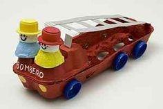 Egg Cartons Activities Images For Kids - Egg Carton Crafts for Kids-Activities For Kids And Children Bus Crafts, Truck Crafts, Preschool Activities, Horse Crafts, Projects For Kids, Diy For Kids, Crafts For Kids, Toddler Crafts, Toddler Activities