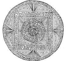 Labyrinth by jhnette Symbols, Black And White, Art, Mandalas, Art Background, Black N White, Black White, Kunst, Performing Arts