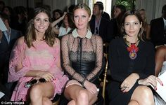 Front row: Olivia joined fellow socialite Nicky Hilton and model-photographer Astrid Munoz front row for the Valentino runway show last month