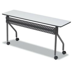 Iceberg - OfficeWorks Mobile Training Table, Rectangular, 72w x 18d x 29h, Gray - Sold As 1 Each - Functional, durable mobile training tables easily reconfigure to improve meeting productivity. by Iceberg Products. $326.56. Iceberg - OfficeWorks Mobile Training Table, Rectangular, 72w x 18d x 29h, GrayFunctional, durable mobile training tables easily reconfigure to improve meeting productivity. Wear-resistant melamine top and perforated steel modesty panel. Stro...
