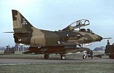 Royal Malaysian Air Force Douglas A-4 Skyhawk getting towed.