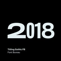 Titling Gothic FB by David Berlow @fontbureau . . . . . . . . . . #titlinggothicfb #fontbureau #type #typography #font #design #webfont…