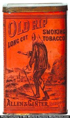 Vintage Old Rip Smoking Tobacco Tin