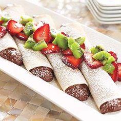 chocolate cream crepes