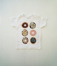 organic cotton, kids graphic tee, donut shirt, food, eco friendly, american apparel, toddler, kids, childrens, clothing, t-shirt, hipster - pinned by pin4etsy.com