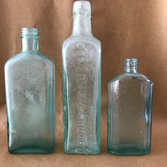 Vintage Aqua Bottle Bundle