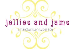 Jellies and Jams by Monkey Roodles Fonts on Creative Market