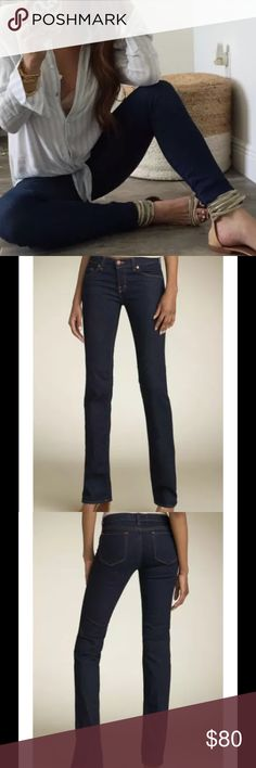 """J BRAND Cigarette Leg 914 Dark Wash Jeans J BRAND Women's Cigarette Leg 914 Dark Wash Stretch Jeans Size 27  Made in the USA    $249 Retail Price     Style# 914 DKV   New without tags!  Zip Fly with button closure, Five-Pocket Style  Fabric:  98% Cotton, 2% Spandex  (Washable)  Measurements:  Size- 27, Inseam- 28"""", Rise- 7.5"""", Leg Opening- 14"""" J Brand Jeans"""