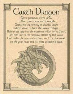 Earth Dragon Parchment Book of Shadows Page!  pagan wicca witch picclick.com