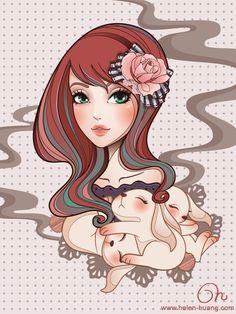 CQCat Illustration: Sweet Bunny Dreams