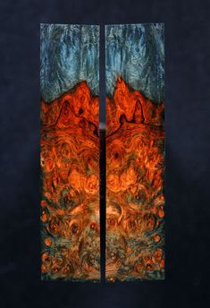 stabilized burl lumber... like the intense contrast in the colors