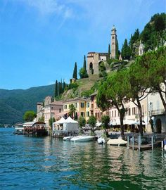 Wonderful Shores of Lake Lugano - Switzerland