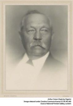 Sir Arthur Conan Doyle, creator of one of the most famous detectives in English literature.