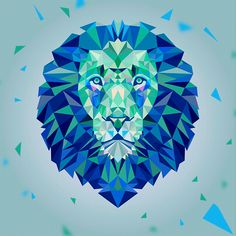 THE LION ORIGAMI by Daniel Andrew Hidalgo Cerna, via Behance