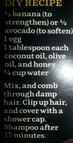 DIY Hair treatment
