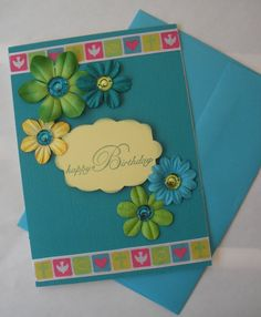 Birthday Greeting Card Handmade by PrincessMouseyCards on Etsy, $3.00