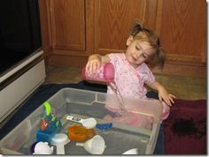 Water sensory fun for your toddler