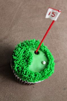 Golf Cupcake for a golf lovers birthday on the 15 https://www.facebook.com/magdalynnssweets